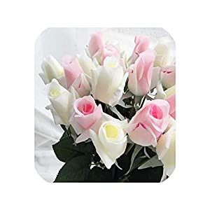 meiguiyuan 11pcs/Lot Fresh Latex Rose Artificial Flowers Real Touch Rose Flowers, for Home Wedding Decoration Party or Birthday 49
