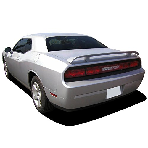 Dawn Enterprises CHALL-PED Custom Style Pedestal Spoiler Compatible with Dodge Challenger - Pitch Black (X8)