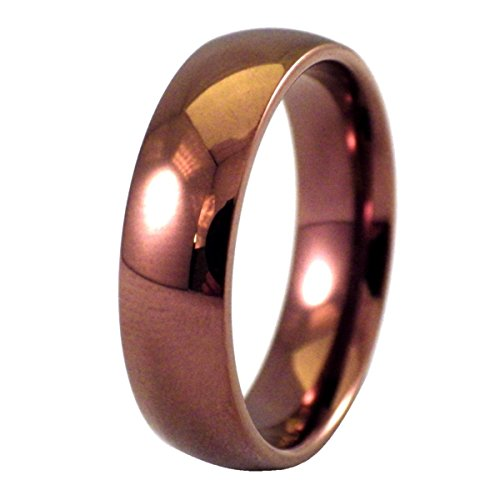 Fantasy Forge Jewelry Coffee Color Ring Simple Copper Stainless Steel Wedding Band Size 10