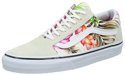 Vans Old Skool Unisex Shoes Hawaiian Floral White (6.0 US Men-7.5 US Women)