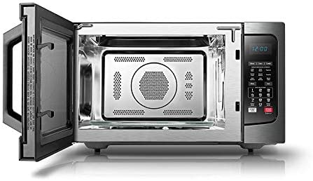 TOSHIBA EC042A5C-BS COUNTERTOP MICROWAVE OVEN WITH CONVECTION, SMART SENSOR, SOUND ON/OFF FUNCTION AND LCD DISPLAY, 1.5 CU.FT, BLACK STAINLESS STEEL (RENEWED)