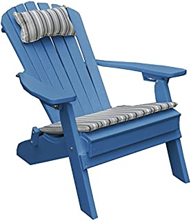 product image for Poly Folding and Reclining Fanback Adirondack Chair - Blue