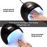 MelodySusie UV LED Nail Lamp 48W Nail Dryer for Gel