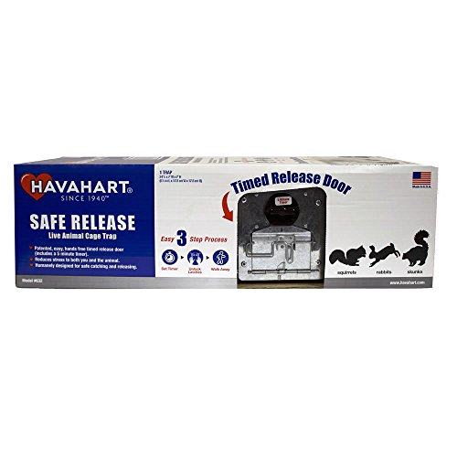Havahart 632 Medium 2-Door Safe Release Live Animal Cage Trap for Squirrels, Rabbits, Skunks ()
