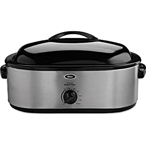 22-Pound Roaster Oven with Removable 3-Bin Buffet Server, 18-Quart, Stainless Steel