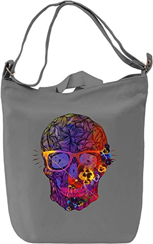 Vivid Skull Borsa Giornaliera Canvas Canvas Day Bag| 100% Premium Cotton Canvas| DTG Printing|