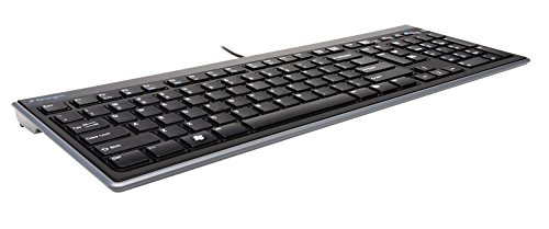 Kensington Slim Type Wired Keyboard (K72357USA) (Best Flat Keyboard Pc)