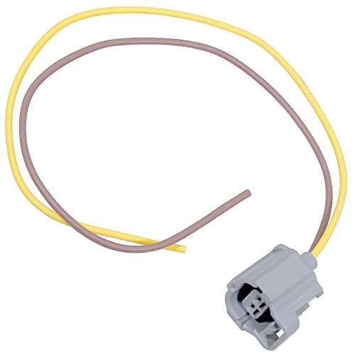 APDTY 133814 Wiring Harness Pigtail Connector 2- Way 2-Wire Fits Numerous Ford Vehicles & Components Including IMRC or Emissions Sensor (Replaces WPT545, WPT-545, 3U2Z14S411USA, 3U2Z-14S411-USA) - Emission Harness Wiring
