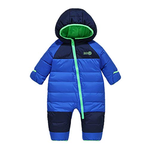 Beide Baby Boys Girls Snowsuit Winter Puffer Jacket Pram Suit (Blue,2T)