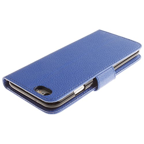 Für iPhone 6 Plus / iPhone 6s Plus Hülle, Moonmini® PU Lederhülle Handyhülle Flip Case Klapphülle mit Ständer, Kartenfach, Magnet & Taljereep - Blue Purple