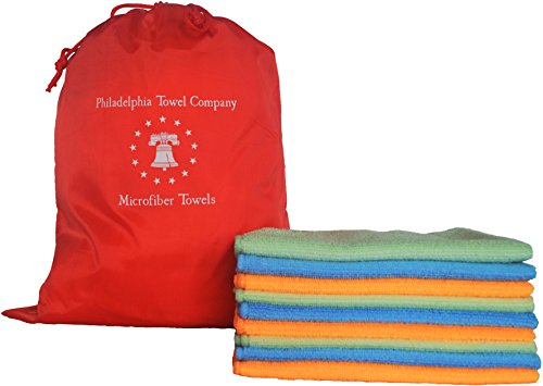 Philadelphia Towel Company's Super Absorbent Eco Clean Large Microfiber Cleaning Cloth - 16