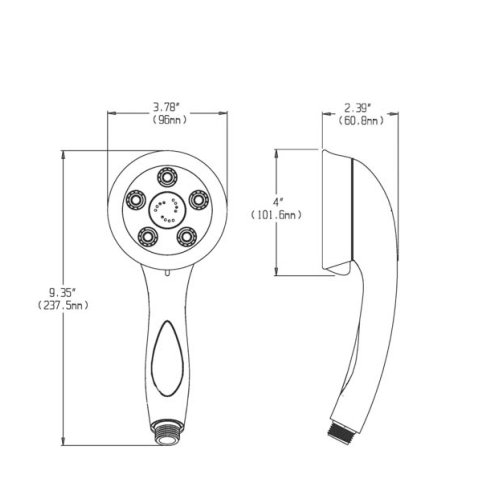From U S A Speakman Vs 2007 Pb Napa High Pressure 5132965 in addition Detail also P1859344 further 2030691 Speakman Vs 3014 Caspian Anystream High Pressure Handheld Shower Head With Hose Polished Chrome likewise  on speak shower head brushed nickel