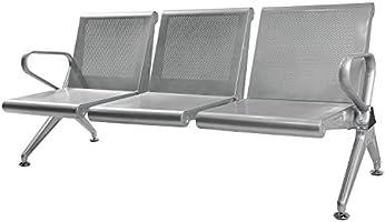 Amazon.com : Sliverylake Rolled Steel 3 Seat Bench Salon ...