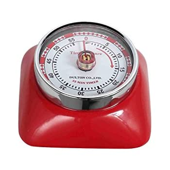 Magnetic 55 Minute Kitchen Timer Square   RED