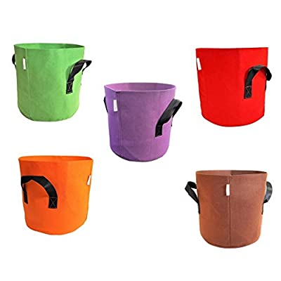 Grow Bags 7 Gallon Colored Fabric Pot for Peppers, Potatoes, Tomatoes and Plants by Bootstrap Farmer