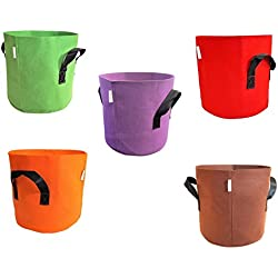 Bootstrap Farmer Grow Bags 7 Gallon Variety 10 Pack Colored Fabric Pot for Peppers, Potatoes, Tomatoes and Plants by