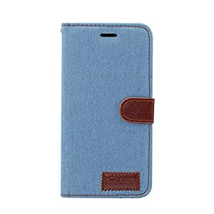 Dibase Jeans Fabric Mobile Phone Wallet for Samsung S8 - Light Blue