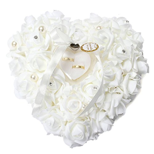 KINGSO Elegant Rose Heart Favors Ring Box Jewelry Case Wedding Accessories