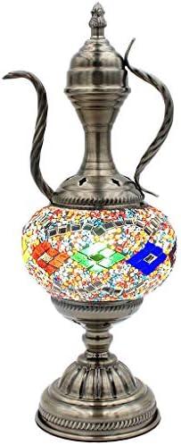 SILVERFEVER Mosaic Turkish Teapot Lamp Moroccan Glass