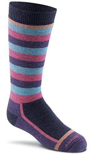 (FoxRiver Kids Snow Day Over-The-Calf Socks, Small, Navy)