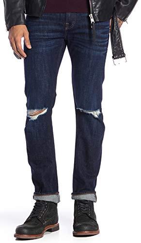 7 For All Mankind Men's Paxtyn Skinny Jeans Blue Denim Destroyed Extinction 34
