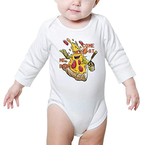 Kijhsaa Ninja Stars Pizza comeat me broo Infant Boys Girls Long Sleeve Baby Onesie Toddler Clothes ()