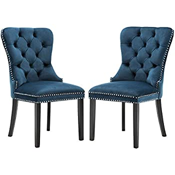 Amazon Com Chairus Velvet Dining Room Chairs Upholstered