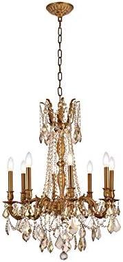 Elegant Lighting 9208D24FG-GT/RC Royal Cut Smoky Golden Teak Crystal Rosalia 8-Light