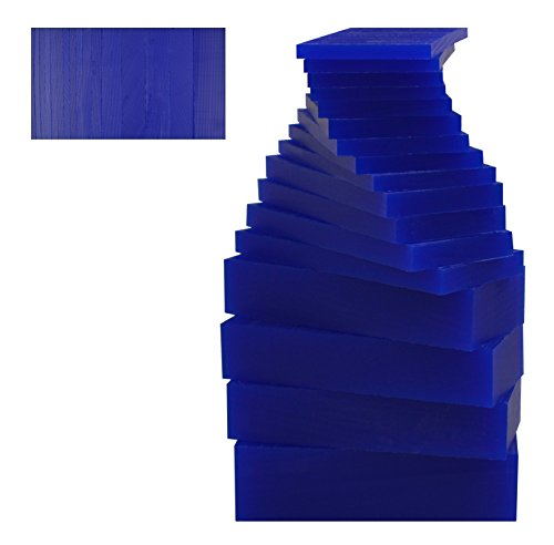 17 Piece Assortment of 1 Lb Blue Wax Carving Block Jewelry Pattern Making Machining Medium-Hard Melting Modeling Wax by PMC Supplies LLC