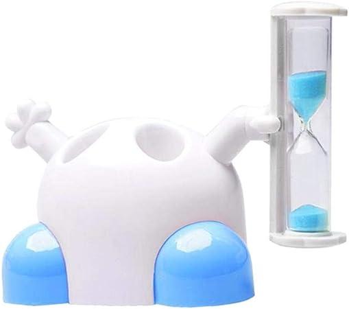 Portacepillos de Dientes Temporizador de Cepillado Tiempo de Reloj de Arena de 3 Minutos Simple Durable Prevenir el Agua Estancada Crianza Bacteriana Niño Estudiante Creatividad Casera: Amazon.es: Hogar