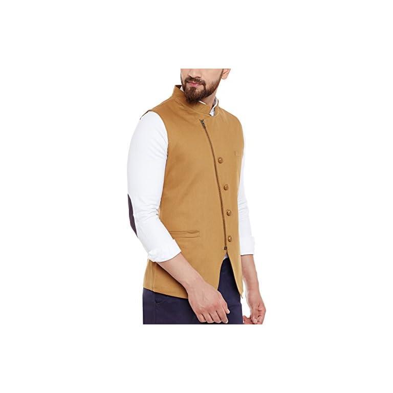 41y2BNbV2lL. SS768  - HYPERNATION Men's Nehru Jacket Waistcoat