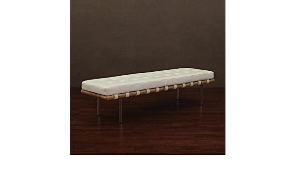 Fine Amazon Com Andalucia Modern White Leather Indoor Bench Ocoug Best Dining Table And Chair Ideas Images Ocougorg