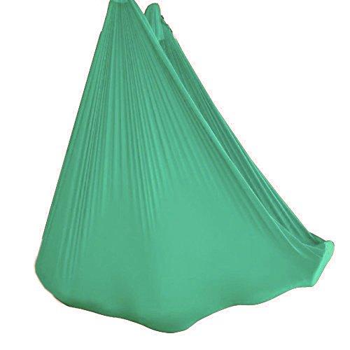 Light Renewal Therapy - wellsem Deluxe L:5.5 Yards W:3 Yard Yoga Flying Swing Aerial Yoga Hammock Silk Fabric for Yoga Bodybuilding(5mx2.8m) (Light Green)