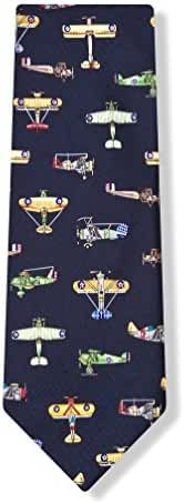 Vintage US Warplanes Tie By Alynn Novelty In Silk
