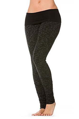 Hard Tail Ikat Contoured Ruched Roll Down Legging in Black (X-Small)