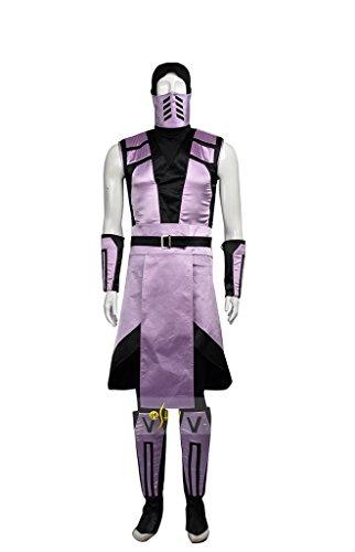 Mtxc Men's Mortal Kombat Cosplay Costume Rain Full Set Size X-large Purple