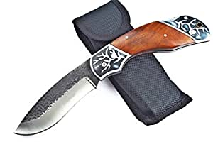 Himalayas Brown Bear Survival Aluminium + Rosewood Handle Manual Pocket Folding Knife Collectible Best Buy, Best Choice for Outdoor, Craft, Gardening or Camping Gear