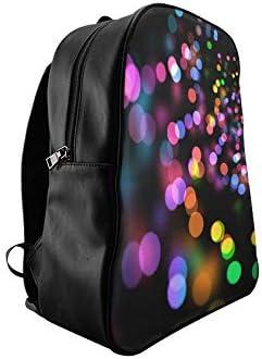 Bokeh Light Reflections Light Abstract Daypacks For Girls School Bag Backpack School Bag Print Zipper Students Unisex Adult Teens Gift