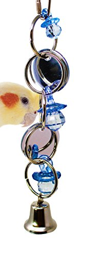 Misc Round Mirror - Bonka Bird Toys 1741 Round Mirror Bird Toy Parrot Cage Craft Toys Cages African Grey Conure Cockatiel. Quality Product Hand Made in The USA.