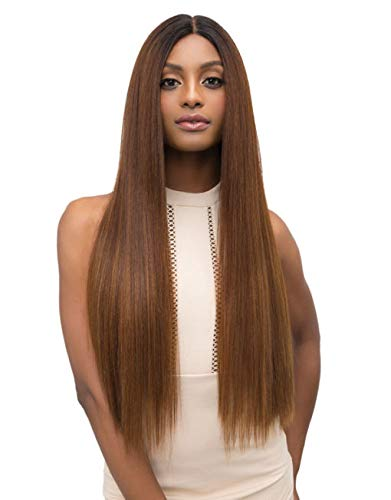 (Janet Collection Extended Part Deep Swiss LEAH Lace Front Wig (SANDY BLONDE))