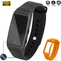 Mini Hidden Camera,Haoweiming 32GB Spy Camera Rechargeable Wristband Sports Camera Portable Bracelet Camcorder with No-Hole Camera Design(Full HD 1080P)