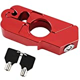 Motorcycle Grip Lock-Alluminum Alloy Throttle/Brake/Handlebar Lock Heavy Duty Anti Theft to Secure Your Bike, Scooter, Moped or ATV (Red).