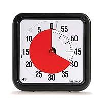 Temporizador Original de 12 pulgadas; Temporizador visual de 60 minutos: reloj de cuenta regresiva en el aula o reunión para niños y adultos (negro)
