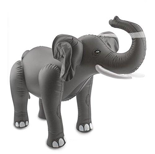 Aufblasbarer Elefant Aufblastier Dschungel Aufblaselefant 60x75 cm