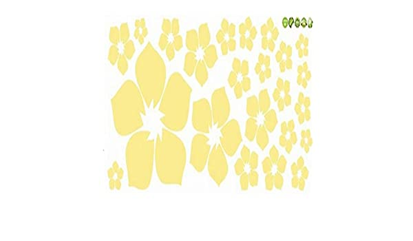 Amazon.com: Chitop Removable Beautiful Flowers Wall Sticker - Children Living Room Bedroom Decor Environmental Protection DIY Wall Stickers (Yellow): Home & ...