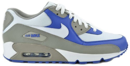 Nike Air Max 90 Grey/ White, Royal Mens Running Sneakers 325018-054