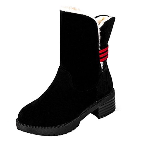 Women's Boots Winter Boots Warm Ankle Boots Warm Winter Shoes (Black, 36)