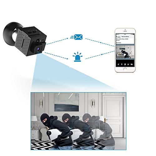 Wireless Home Security Camera, Conbrov WF98 960P Mini Camera Surveillance Video Recorder Body Camera with Motion Detection and Night Vision, Support Max 128GB (NO SD Card)