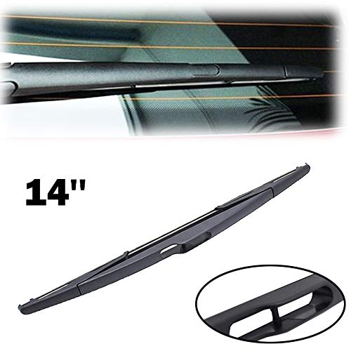 "Xukey 14"" Rear Windshield Wiper Blade For Nissan Almera Tiida Ford Edge Volvo XC60 XC90 Toyota ProAce Lincoln MKX Peugeot 106 206 307 807 Partner Ranch Opel Zafira B Citroen Jumpy Berlingo Rear Window"