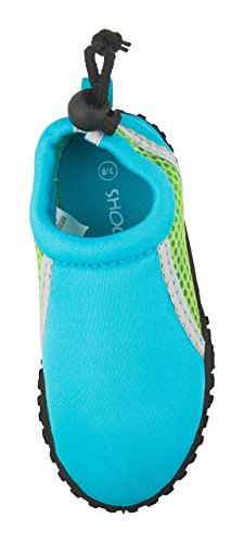 Shocked Toddler Neoprene and Mesh Water Beach Shoe Size 11-12 Turquoise/Green/Gray by Shocked (Image #4)